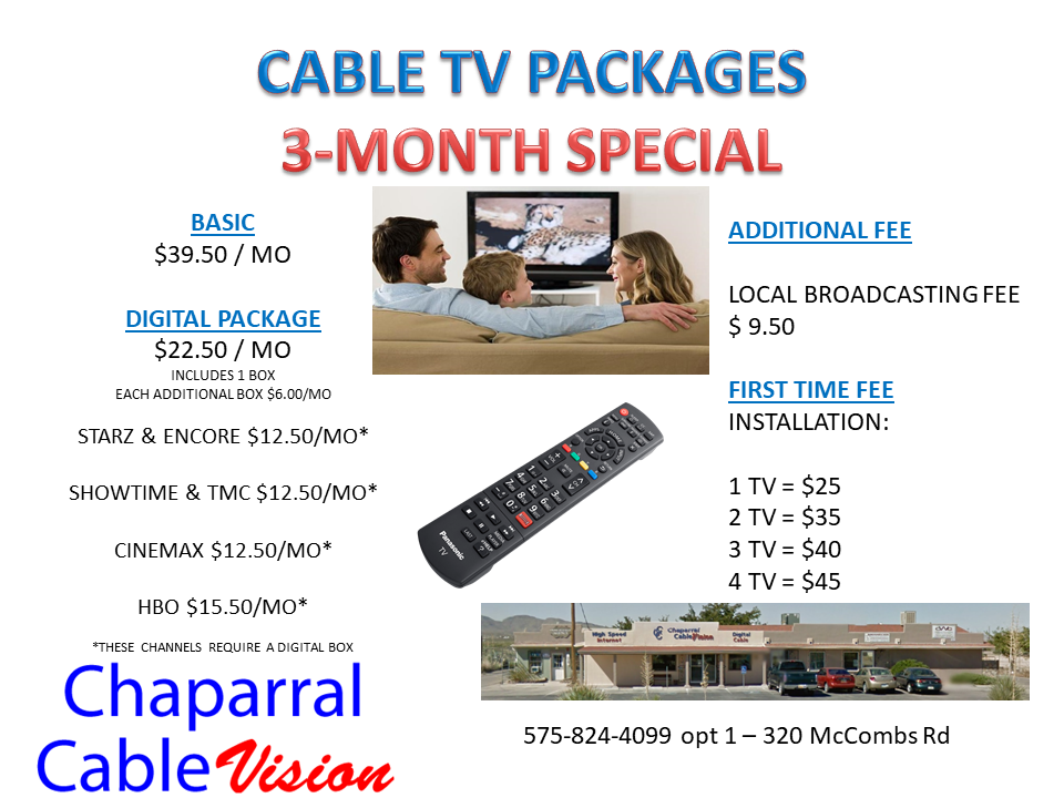 Chaparral Cable – Cable TV, High Speed Internet, Digital Phone Service